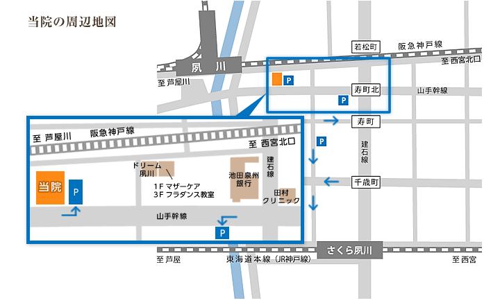 当院の周辺地図